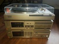sony turntable amplifier cassete player seperates hifi stack system