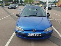 PEUGEOT 106 1.1 2002. FANTASTIC CONDITION. ONLY 43000 MILES. TAX & MOT
