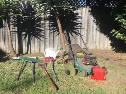 Assorted garden equipment