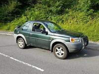 Landrover Freelander with tow bar and long mot ,drives well ,px welcome,first to view will buy