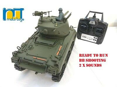MATO Radio  Remote Controlled RC 2.4G Tank M4A1 SHERMAN 1/16 with 2 Sounds UK ! for sale  Shipping to Ireland