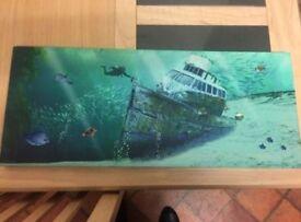 Underwater canvas