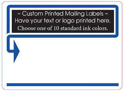 1000 Custom Printed Mailing Labels 1 Ink Color 4 X 3 Shipping Box Stickers