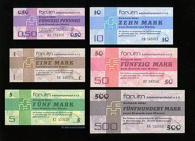 Forum-Satz 1979 DDR__6 Scheine *** UNC./ KASSENFRISCH !
