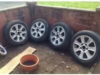 "Bmw alloys 5x120 16"" continental tyres"