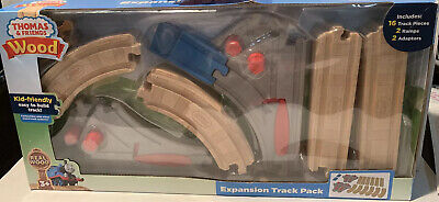 Thomas & Friends Wood Railway Expansion Pack 20Pc Set Track,ramp,& adaptor Only