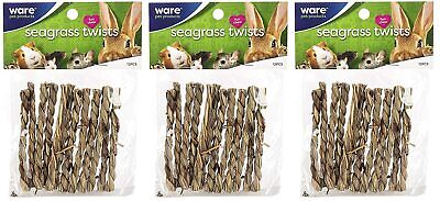 Ware Natural Seagrass Sticks Chew Toy For Guinea Pigs Gerbils Rabbits LOT OF 3