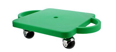 """Get Out!™ Plastic Scooter Board in Green 12"""" x 12"""" Inches with Wide Handles"""
