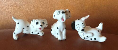 3 Vintage Disney 101 Dalmatian Puppy Figurines Japan & Walt Disney Production