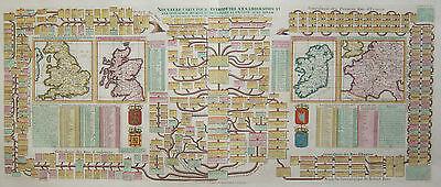 Stammbäume u. Karten v. Frankreich, England, Schottland, Irland - Chatelain 1719