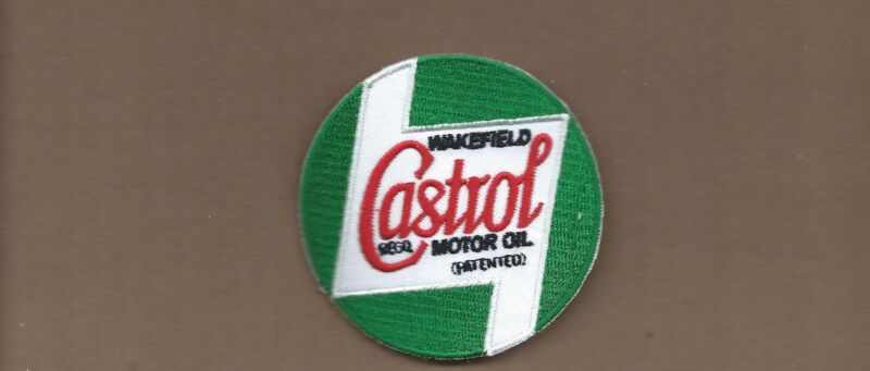NEW 2 7/8 INCH CASTROL MOTOR OIL IRON ON PATCH FREE SHIPPING