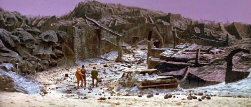 1973's BATTLE FOR THE PLANET OF THE APES Forbidden City walk color 4x10 scene