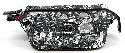 Disney Dooney & Bourke Mickey Minnie Negative Comic Strip Cosmetic Pouch Bag - Comic Strip Makeup