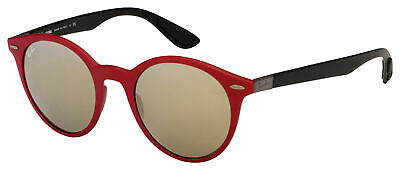 Ray-Ban Sunglasses RB 4296 63455A 51 Red/Black Frame | Gold Mirror Lens