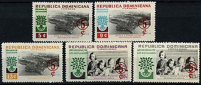 Dominican Republic 1960 SG#805-9 World Refugee Fund MNH Set #D37612
