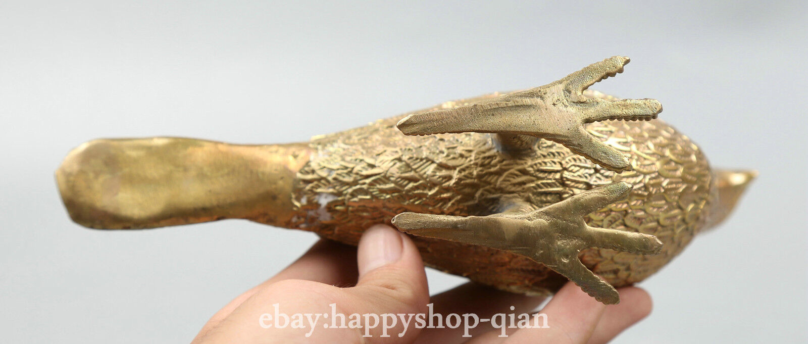 """8.1/""""Collect Chinese Fengshui Bronze Animal Peace Dove Carrier Pigeon Bird Statue"""