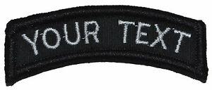 CUSTOMIZED Morale Tab Velcro Patch Military / Police Custom Text Multiple Colors