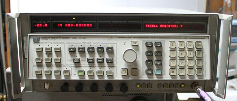 HP / Agilent 8340B Synthesized Sweep Signal Generator 10MHz to 26.5GHz