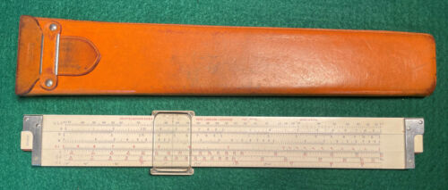 Vintage KEUFFEL & ESSER Co NY No 4090-3S Slide Rule with Leather Case
