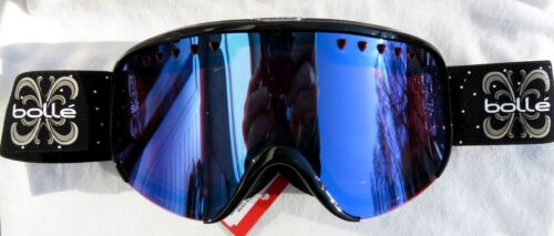 NEW $130 Bolle Womens Scarlett Winter Black Snow Ski goggles Ladies Modulator