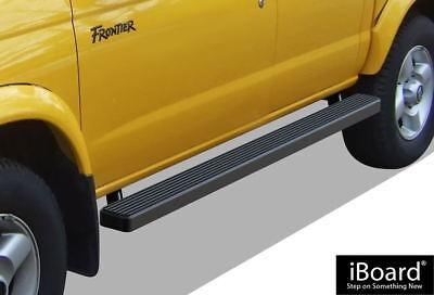 "iBoard Side Steps Nerf Bars 4"" Black Fit 99-04 Nissan Frontier Crew Cab"