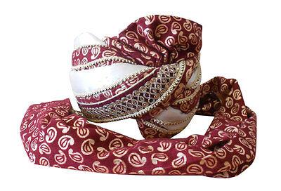 Men Hat Groom Pagri Handmade Pag Sherwani Turban Designer Top Hat 7 1/4