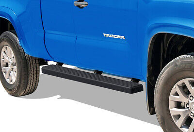 """iBoard Running Boards 5"""" Matte Black Fit 05-19 Toyota Tacoma Access Cab"""