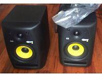 2X KRK Rokit 5 Active Music Recording Studio Monitors Speakers