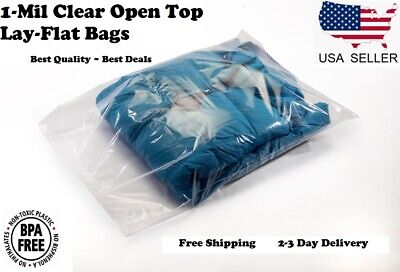 Clear Plastic Bags Open Top Lay Flat 1 Mil Baggies Large Small 1mil Poly Bolsas