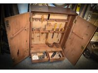 Vintage Work workers Upright tool chest
