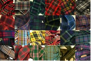 Woven-Edge-Polyester-Tartan-Ribbon-for-Sewing-Card-Craft-7-10-16-25-38mm