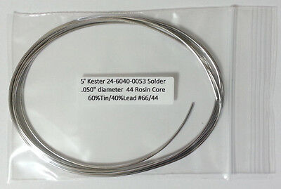 5 1.5m Kester Solder .050 6040 Rosin Core 44 Flux 24-6040-0053 Buy2get1free