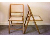 Cesca Style Cane Folding Chairs