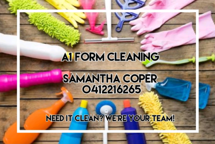 Need it clean? We're your team!