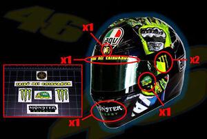 Valentino Rossi helmet decal sticker kit set MotoGP Yamaha Tribu Turtle vr 46
