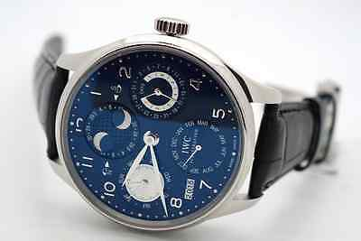 IWC Portuguese Perpetual Calendar Moon phase 750 White Gold IW503203 Watch