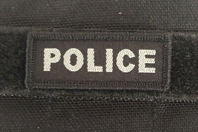 Tactical, Police Patch, Black, NSW, VIC, WA, QLD, SA, NT, Hook Rear,