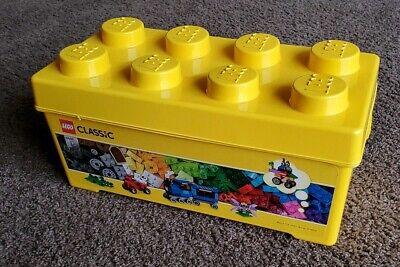 """Lego Classic YELLOW Plastic Storage Bin EMPTY No Legos 14"""" x 7"""" x 6-3/4"""""""