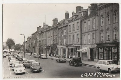 Chipping Norton High Street, Old Cars RP Postcard, B285