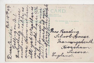 Mrs Reading, School House, Manningsheath, Horsham Postcard, B153