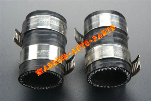 """For Yamaha Blaster YFS200 High Temp Rubber Exhaust Coupling Clamps 1""""ID Black x2"""