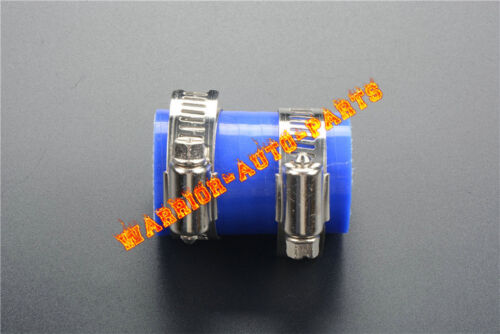 """For Yamaha Blaster YFS200 High Temp Rubber Exhaust Coupling Clamp 1"""" ID 1PC Blue"""