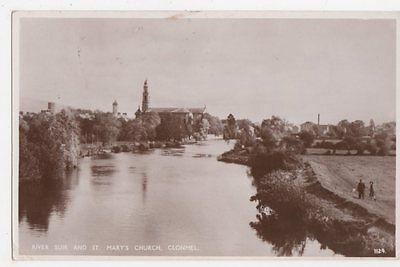 Ireland, River Suir & St. Marys Church Clonmel RP Postcard, B407