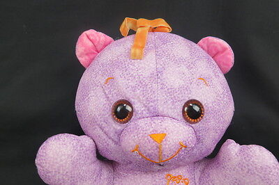 DOODLE DRAW ON ME BABY TEDDY BEAR REMOVABLE DIAPER PURPLE PLUSH STUFFED ANIMAL (Diaper Drawing)