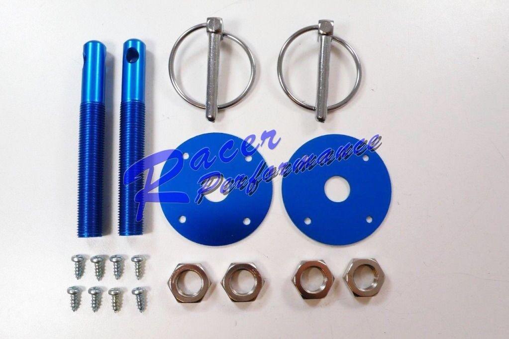 "Silver Aluminum Hood Pin Kit 1//2/"" Pins Mopar Street Drag Racing"