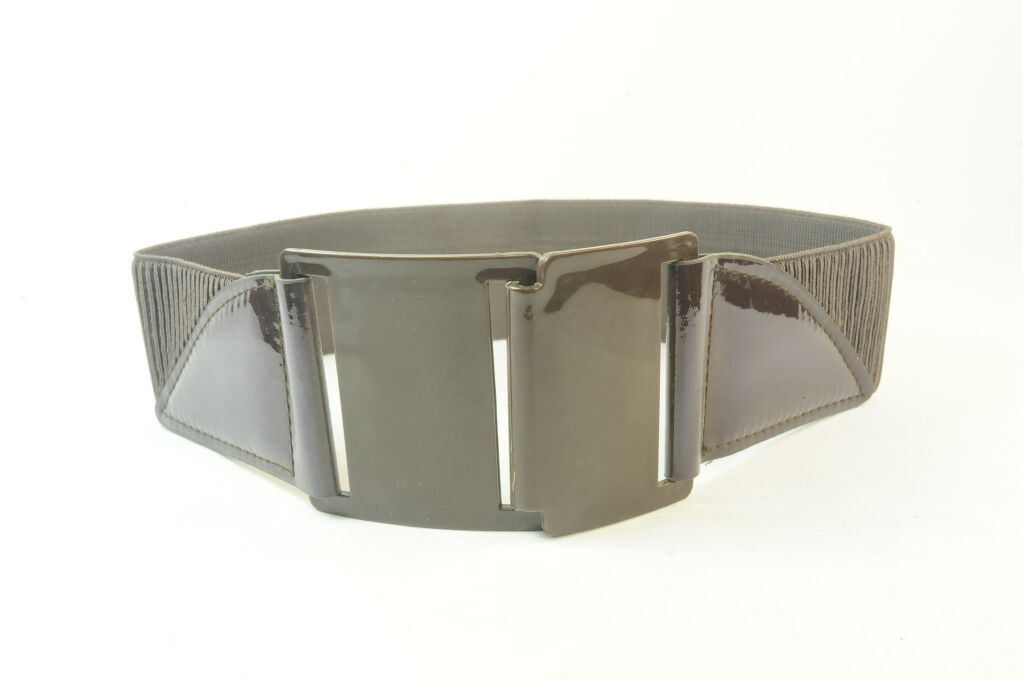 CHIC 70S STYLE INSPIRED BROWN PLASTIC BELT ADJUSTABLE LENGTH ZX24