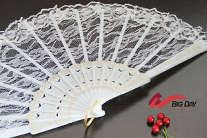 Victorian Lace Fan Bridal Wedding Gothic Lolita Hand Fan White