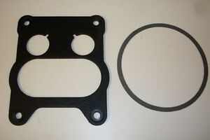 ROTCHESTOR QUADRAJET CARBY 4BBL THICK TYPE BASE & AIR CLEANER GASKET HOLDEN CHEV