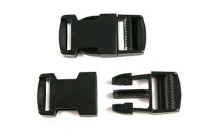 Delrin Side Release Plastic Buckles Clips For Webbing - 20mm, 25mm, 40mm & 50mm