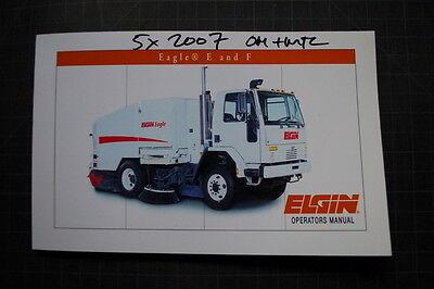 Elgin Eagle Street Sweeper Truck Operator Maintenance Manual Sweeping Owner Book